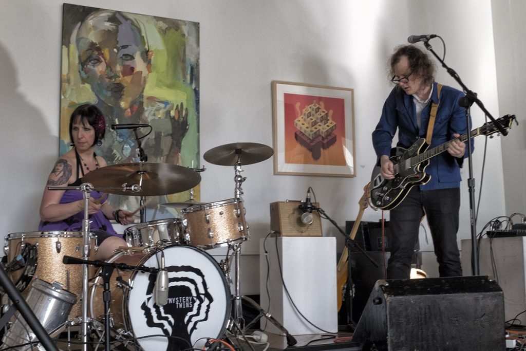 Nashville band Mystery Twins perfrom at The Gallery of Contemporary Art in New Harmony, Indiana.