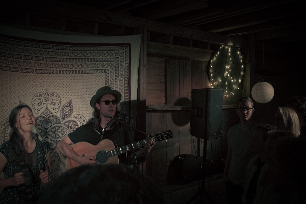 Brooklyn band The Bergamot play a show near Mount Vernon, Indiana as part of their Unity Tour.