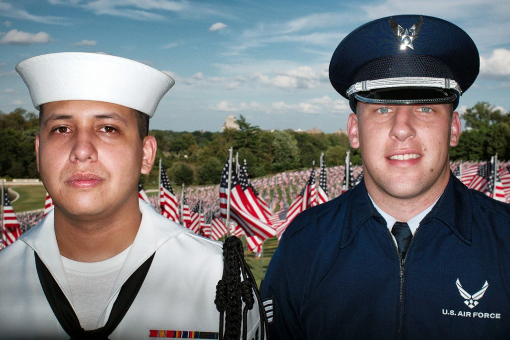 Sailor and Airman at Flags of Valor